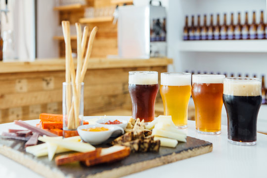 Delicious snacks with craft beer