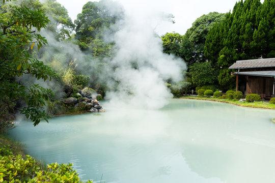 Hot Spring water boiling, Beppu, Oita, Japan