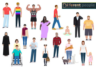 Different people in society, vector