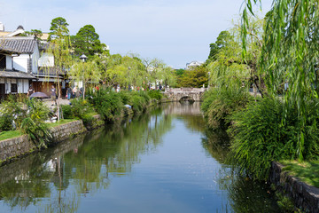 Kurashiki river in Kurashiki city