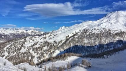 Sestriere, panorama della ski area