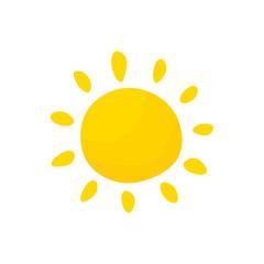 Sun hand drawn vector isolated