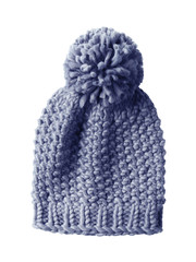 Woolen cap isolated on white