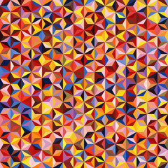 Abstract seamless background consisting of red, yellow, blue triangles. Geometric design for business presentations or web template banner flyer. Vectorcolorful illustration