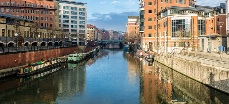 River avon in Bristol, as seen from Valentine bridge