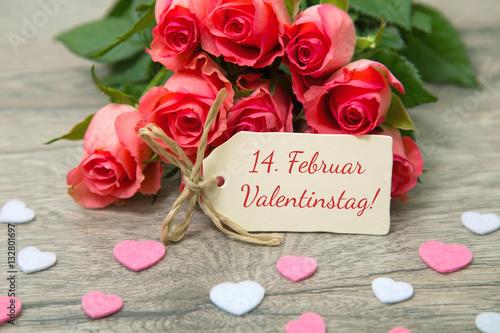 Februar Rosen Zum Valentinstag