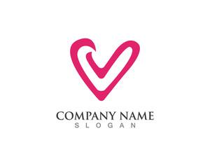 Love two Hearts logo