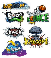 set of comics icons