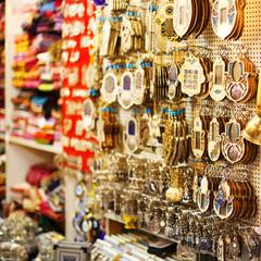 Souvenirs at Jerusalem bazaar, hamsa