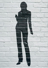 Street art. Silhouette féminine