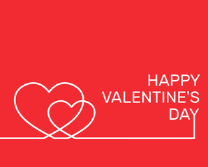 happy valentines day background design in simple line style