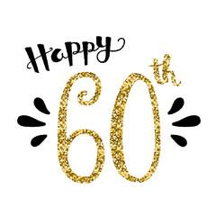 """""""HAPPY 60th BIRTHDAY"""" Card"""