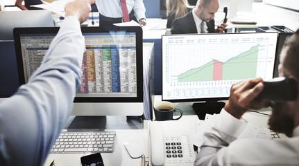Business Graph Measurements Data Presentation Concept