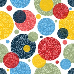 Decorative polka dot. Vector seamless pattern.
