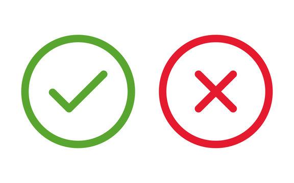 cross & check icons