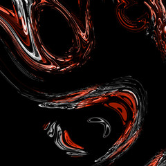Abstract fractal swirls, computer generated, digital artwork for creative graphic design