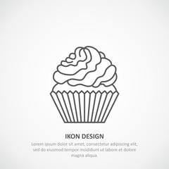 Icon  cupcake.