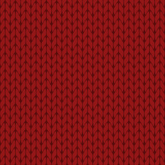 Knitted dark red background pattern vector isolated