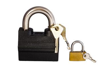 Two locks with keys