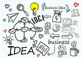 business vector idea icon symbol diagram technology