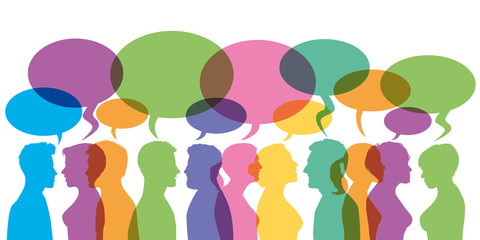 Bulles - Discussion - communication - forum - dialogue - réseaux sociaux