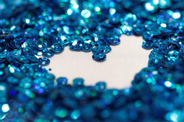 Blue sequin