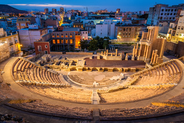 The Roman Theatre in Cartagena, Spain