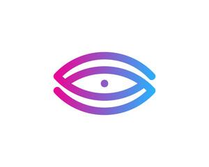 Initial Letter S Eye Logo Design Element