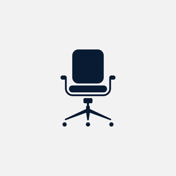 Office chair icon simple illustration