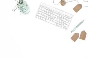 Minimal women's workspace