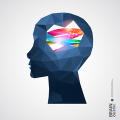 Creative concept of the human head.