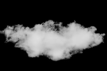 Single white cloud on black background