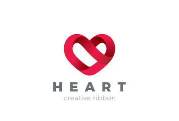 Heart Logo design vector. Valentine day love. Cardiology Medical