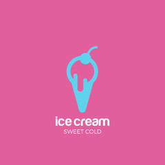Ice cream Logo design vector template