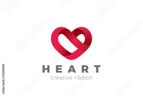 heart logo design vector valentine day love cardiology medical