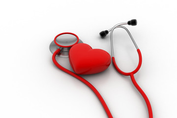 stethoscope with heart sign