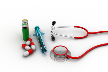 Medicines with medical equipments