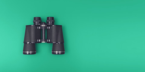 Binoculars header with copy space