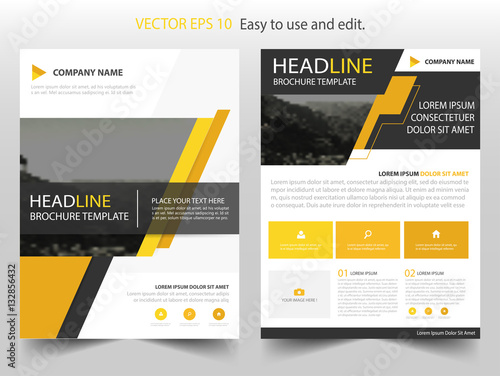 Yellow Black Vector Business Proposal Leaflet Brochure Flyer