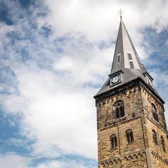 Clock tower of the Grote Kerk, Enschede, Netherlands