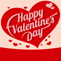 Vector illustration ard Happy Valentine s Day