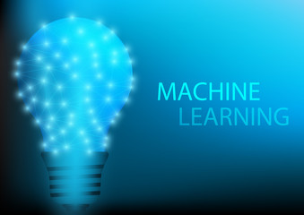 Abstract digital and technology background. Artificial Intelligence with machine learning.