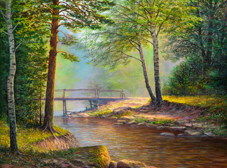 Oil painting landscape