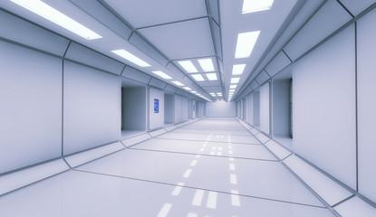 Futuristic interior architecture