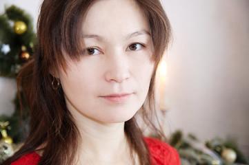 Beautiful asian girl face portrait