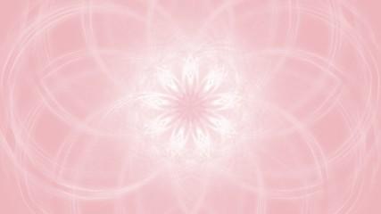 Pastellfarbener Hintergrund - zentrales Fraktal - rosa