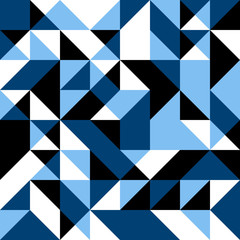 Dark blue seamless background with geometric shapes