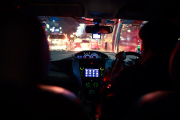 Going by taxi at night