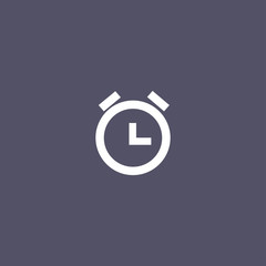 alarm clock icon for web and mobile