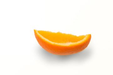 slice of orange, isolated on white